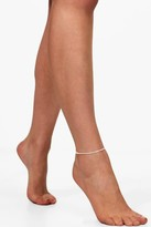 boohoo Elena Multi Chain Anklet silver