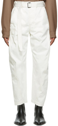 Lemaire White Heavy Twisted Jeans
