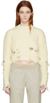 Yeezy Off-white Destroyed Cropped Bouclé Sweater