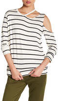 C&C California Ava Striped Cutout Pullover