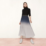 Maje Long tie-dye effect pleated skirt