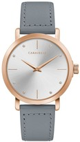 Bulova Caravelle by Women's Gray Leather Strap Watch