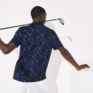 Lacoste Men's SPORT Print Breathable Stretch Jersey Golf Polo