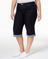 Style&Co. Style & Co Plus Size Denim Caneel Wash Skimmer Shorts, Only at Macy's