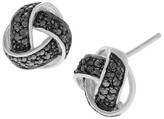 Journee Collection 1/5 CT. T.W. Round-cut Diamond Pave Set Weave Stud Earrings in Sterling Silver