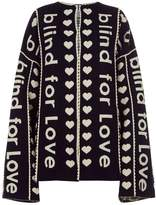 Gucci Blind For Love Cardigan, Black, One Size