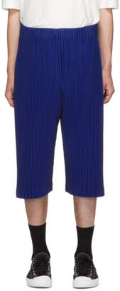 Issey Miyake Homme Plisse Blue Long Pleat Shorts