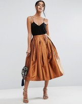 Asos Metallic Prom Skirt