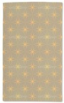 """uneekee Luxurious Microfiber Hand Towel -purpose Highly Absorbent Extra Soft Wash Cloth with Personalized """"Flowers In Gold"""" by Andreas Loher Custom Printed Hand Towels, 15.5"""" x 24.5"""""""