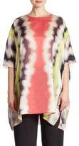 Caroline Rose Watercolor Waves Cotton & Silk Caftan