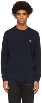 Lacoste Navy Cotton Crewneck Sweater
