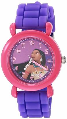 Disney Girls' Princess Analog Quartz Watch with Silicone Strap