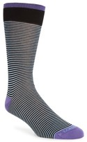 Lorenzo Uomo Men's Feed Stripe Crew Socks