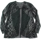 Bagatelle Women's Faux Leather Perforated Jacket