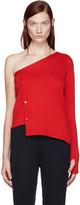 Jacquemus Red Single-shoulder Cardigan