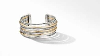 David Yurman The Crossover Collection Wide Cuff Bracelet With 18K
