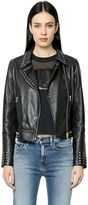 Calvin Klein Jeans Studded Leather Biker Jacket