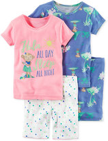 Carter's 4-Pc. Hula All Day Cotton Pajama Set, Toddler Girls (2T-5T)