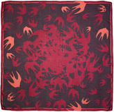 McQ Purple and Pink Swallow Swarm Scarf