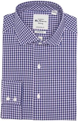 Ben Sherman Pink & Blue Gingham Slim Fit Dress Shirt