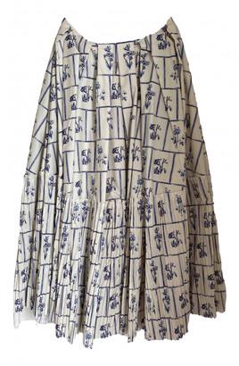 KHAITE Beige Cotton Skirts