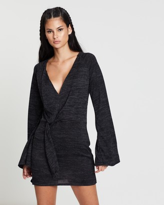 Missguided Knot Front Cut And Sew Shift Dress