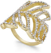 INC International Concepts Gold-Tone Pavandeacute; Leaf Ring, Created for Macy's