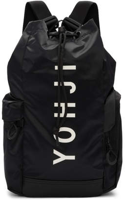 Y-3 Black Mini Yohji Letters Backpack