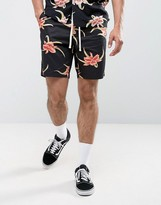 Huf Floral Shorts With Elasticated Waist