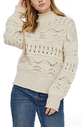 Vero Moda Pointelle Pullover Sweater