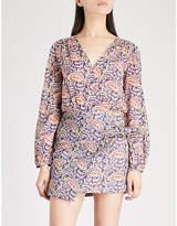 BA&SH Rya printed cotton mini dress