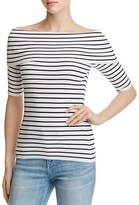 MICHAEL Michael Kors Stripe Off-the-Shoulder Ribbed Top - 100% Exclusive