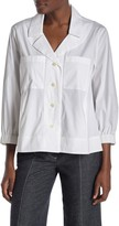 Donna Karan Front Pocket Shirt