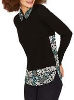 Oasis Greenhouse Woven Shirt Jumper, Black