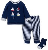 Little Me Infant Boys' Sailboat Tee, Joggers & Socks Set - Sizes 3-12 Months