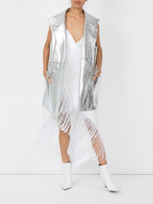 Calvin Klein Metallic Long Vest