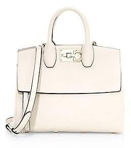 Salvatore Ferragamo Women's Small Studio Leather Top Handle Bag