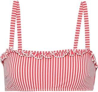 Solid & Striped The Leslie Striped Seersucker Bikini Top