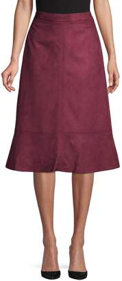 Kasper Suits Faux Suede Skirt