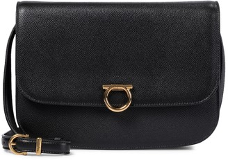 Salvatore Ferragamo Gancini leather shoulder bag
