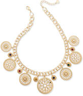 Charter Club Gold-Tone Colored Stone Statement Necklace, Created for Macy's
