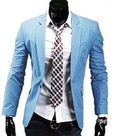 Easy Mens Formal Suit One Button Trim-Fit Blazer Slim Fit Coats M