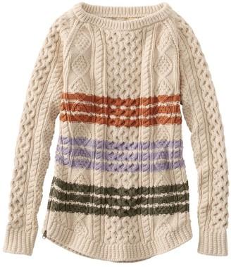 L.L. Bean Women's Signature Cotton Fisherman Tunic Sweater, Stripe