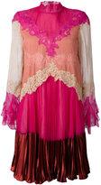 Valentino lace inlay dress - women - Silk/Spandex/Elastane/Polyamide/Viscose - 42