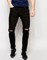 Brave Soul Skinny Knee Ripped Jeans