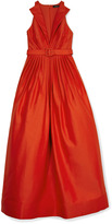 Andrew Gn Cotton Faille Cocktail Dress