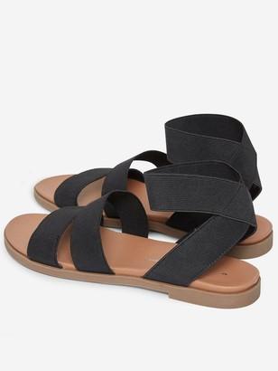 Dorothy Perkins Comfort Fonny Flat Sandal - Black