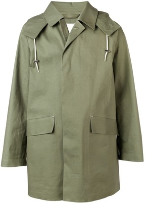 MACKINTOSH Bonded oversized hooded coat