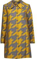 Alice + Olivia Kinsley Wool-Blend Jacquard Coat