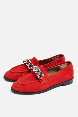Topshop WIDE FIT KOPPA Chain Loafers